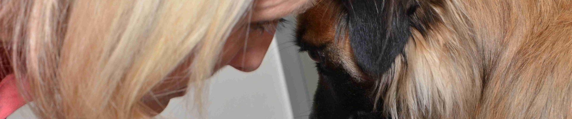nadine und hund kopf an kopf